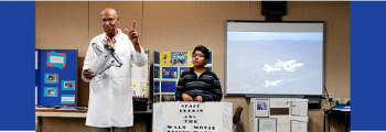 He worked on the first Moon Landing. Now he's teaching youth the joys of science.